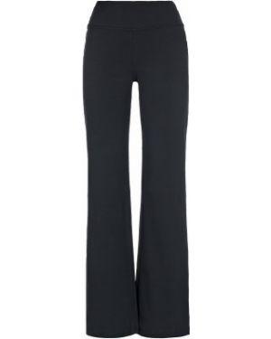 Прямые хлопковые компрессионные черные брюки Demix