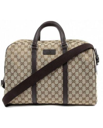 Beżowa torba podróżna Gucci