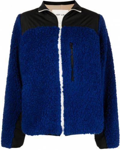 Синяя куртка на молнии с воротником Sandy Liang