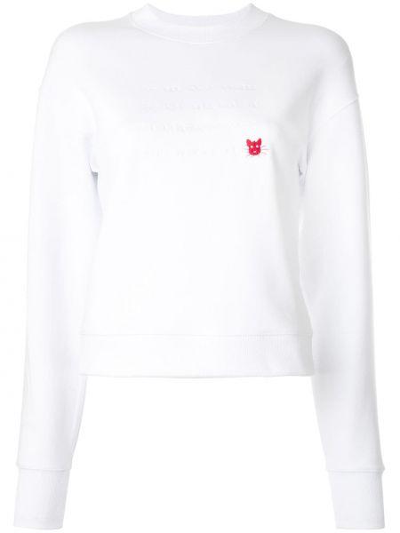 Толстовка с надписью - белая Ck Calvin Klein