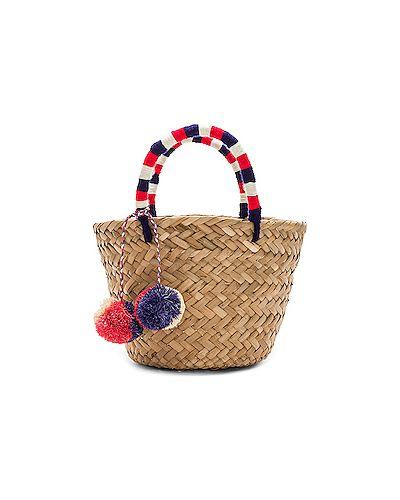 Маленькая сумка соломенная сумка-тоут Kayu