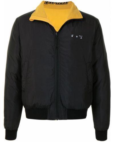 Asymetryczny czarny długa kurtka dwustronny Off-white