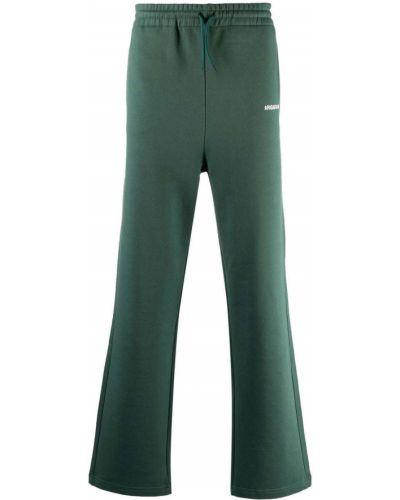 Zielone spodnie z printem Axel Arigato