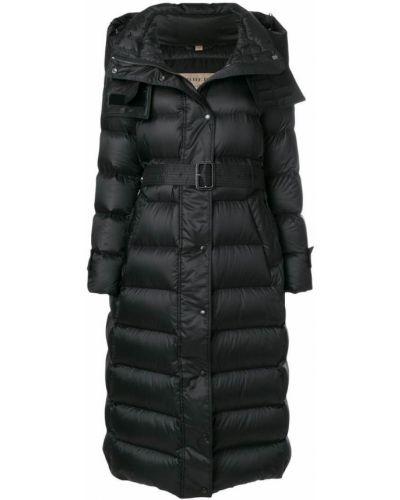 Длинное пальто пуховое с карманами Burberry