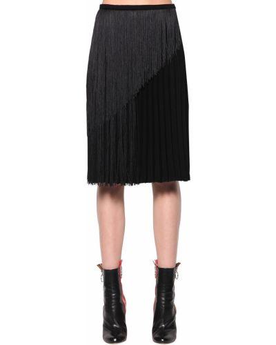 Плиссированная юбка - черная Marco De Vincenzo
