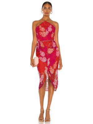 Деловое розовое кружевное платье Elliatt