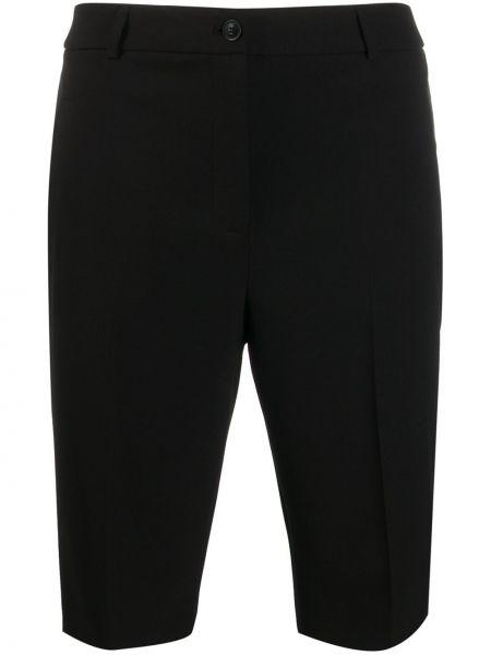 Однобортные черные шорты с карманами Boutique Moschino