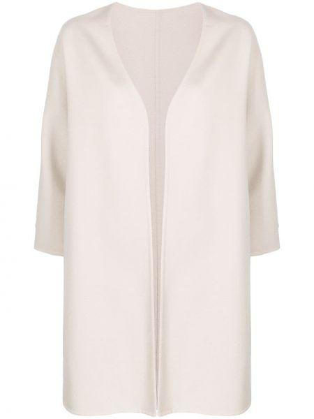 Шерстяное пальто с капюшоном без застежки Manzoni 24
