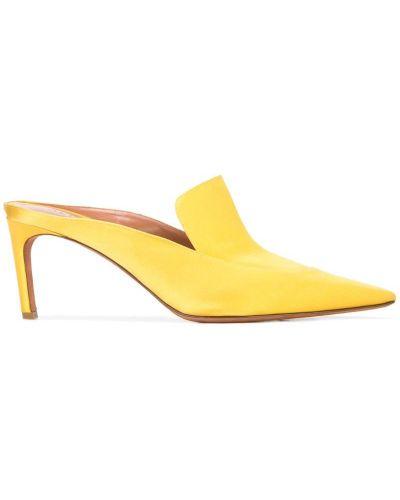 Мюли на каблуке желтый Altuzarra
