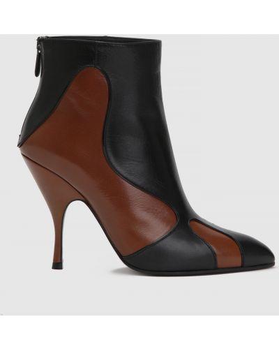 Черные кожаные ботильоны Bottega Veneta