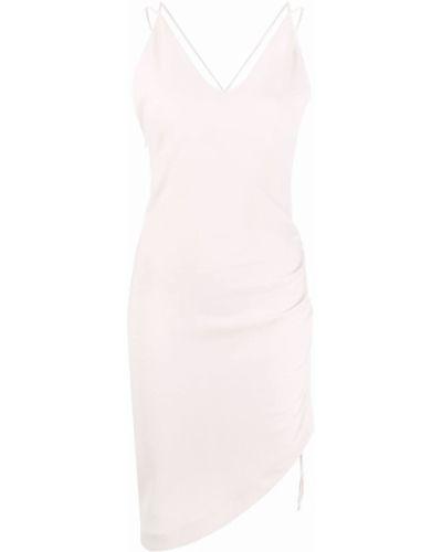 Платье с V-образным вырезом - бежевое Iro