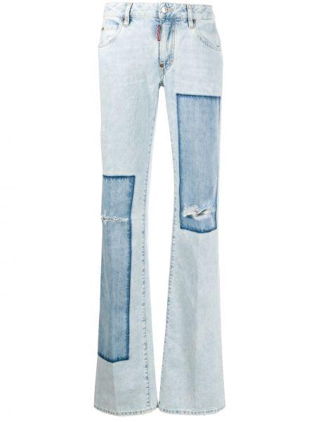 Расклешенные расклешенные джинсы на пуговицах с поясом Dsquared2