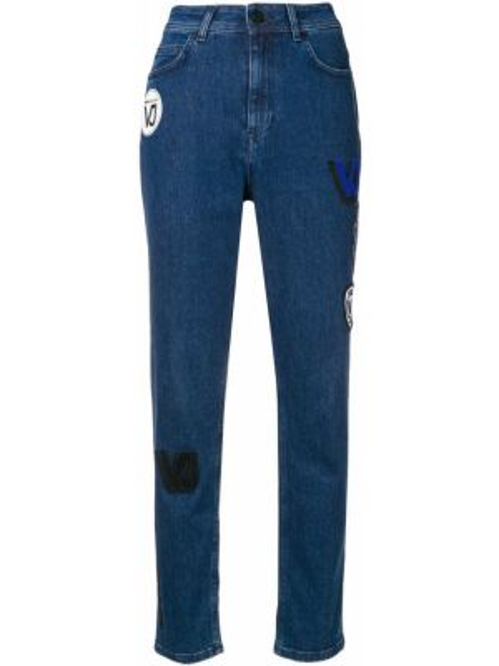 Джинсы mom синие Versace Jeans Couture