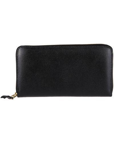 Złoty czarny portfel Comme Des Garcons