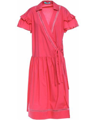 Różowa sukienka kopertowa bawełniana Vivetta