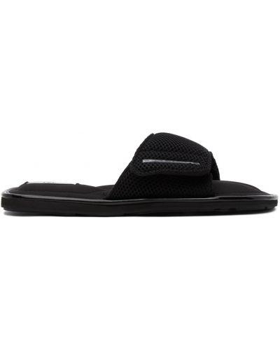 Czarne sandały skorzane na rzepy Eytys
