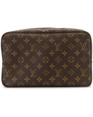 Torba kosmetyczna brezentowy skórzany Louis Vuitton Pre-owned