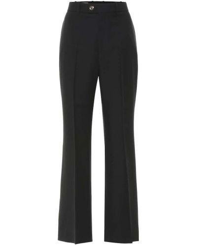 Czarny wełniany rozbłysnął spodnie zabytkowe Gucci