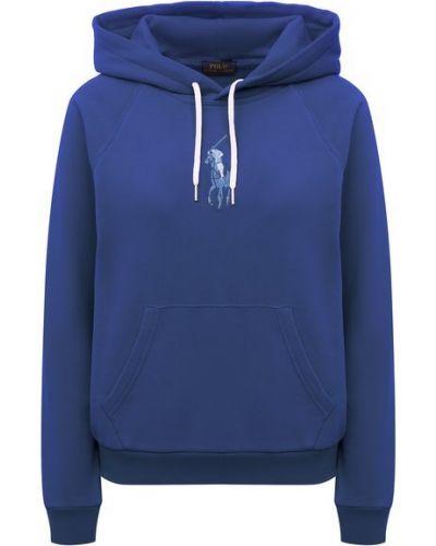 Хлопковое худи - синее Polo Ralph Lauren
