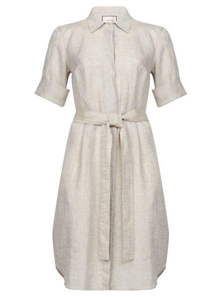Приталенное серое платье с поясом Bagutta