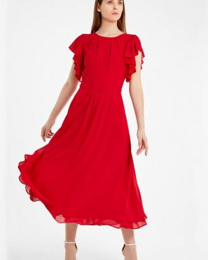 Красное вечернее платье Nai Lu-na By Anastasia Ivanova