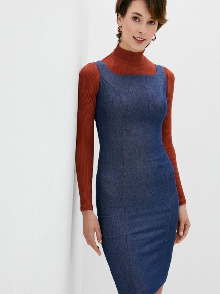 Джинсовое платье футляр синее Vittoria Vicci