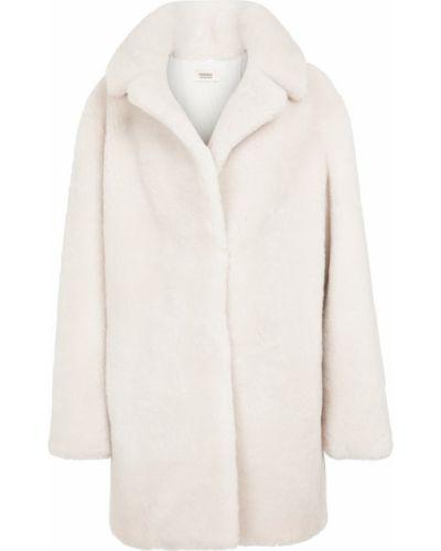 Белое пальто короткое Yves Salomon