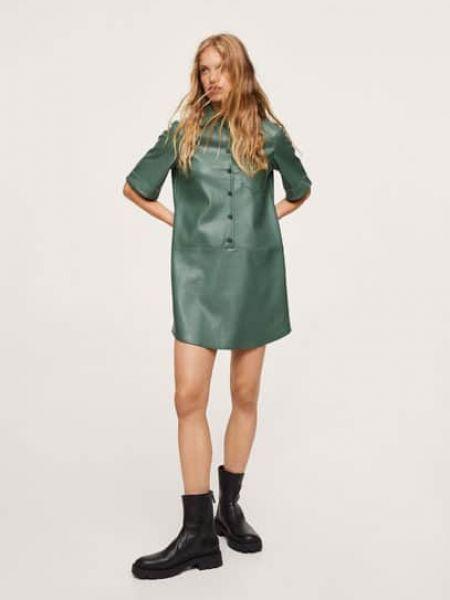 Зеленое платье короткое Mango