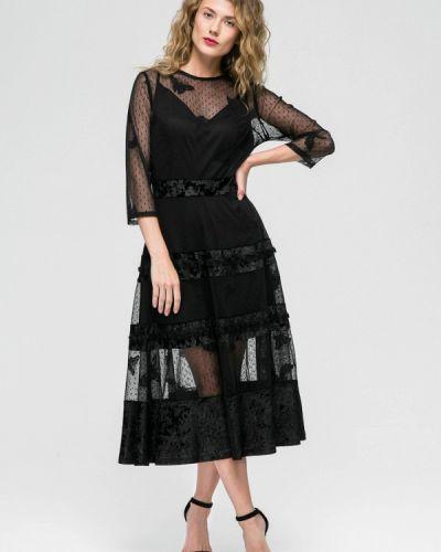 Коктейльное платье осеннее черное Yulia'sway
