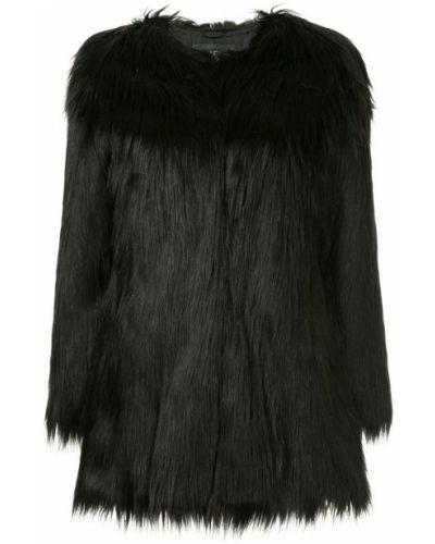 Черное пальто Unreal Fur