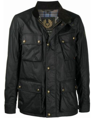 Czarny płaszcz Belstaff