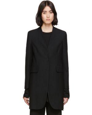 Длинное пальто без воротника шерстяное Mm6 Maison Margiela