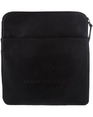 Мерцающая черная сумка через плечо Armani Exchange