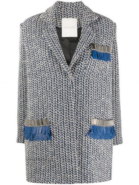 Синий пиджак оверсайз с карманами Loulou