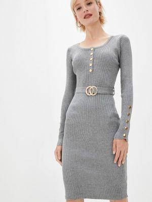 Серое зимнее платье Fadas