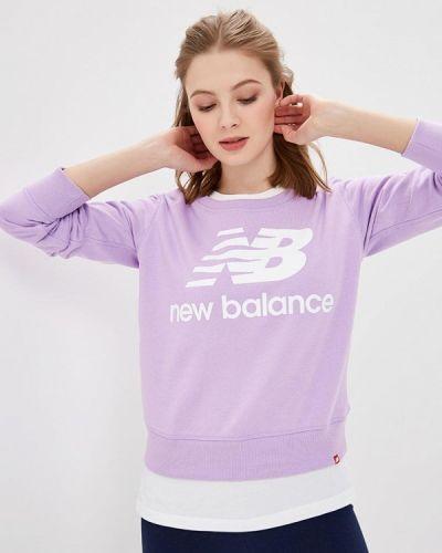 Фиолетовая толстовка New Balance