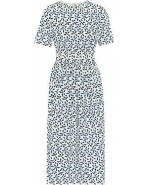 Платье миди в рубчик Oscar De La Renta