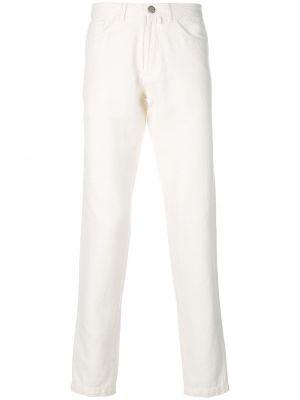 Białe jeansy bawełniane Fashion Clinic Timeless