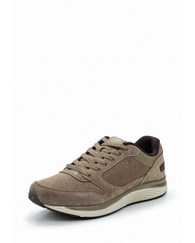 Бежевые замшевые кроссовки Strobbs