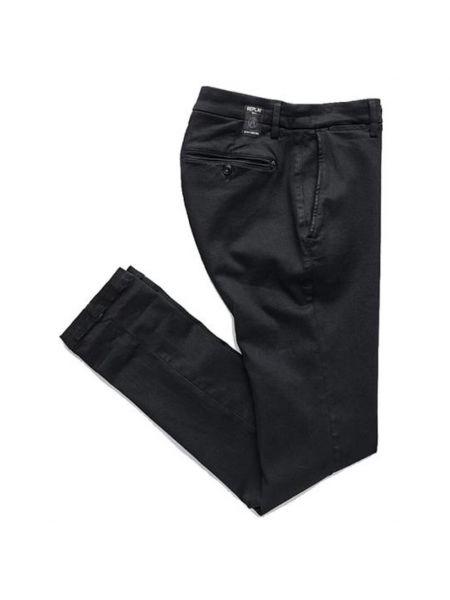 Czarne сhinosy bawełniane Replay