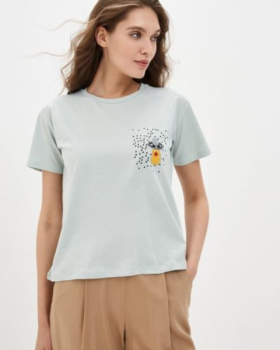 Бирюзовая футболка с короткими рукавами Trendyol