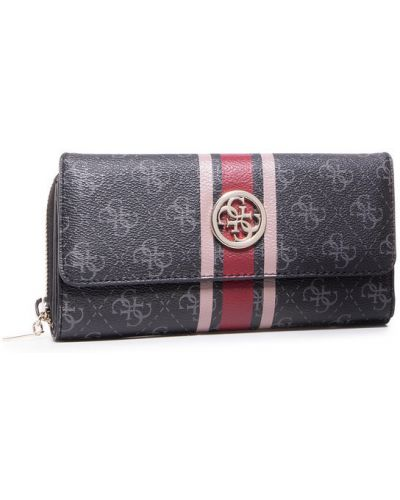 Czarny portfel oversize Guess