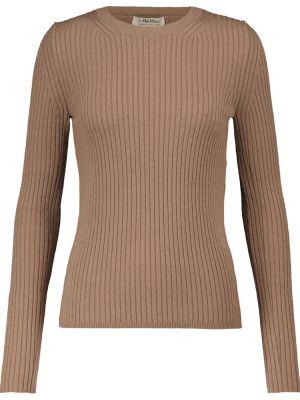 Beżowy sweter wełniany S Max Mara
