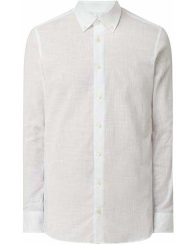 Biała koszula bawełniana z długimi rękawami Pierre Cardin