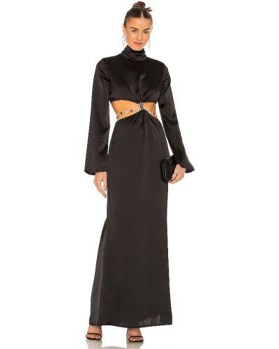 Czarna satynowa sukienka Atoir