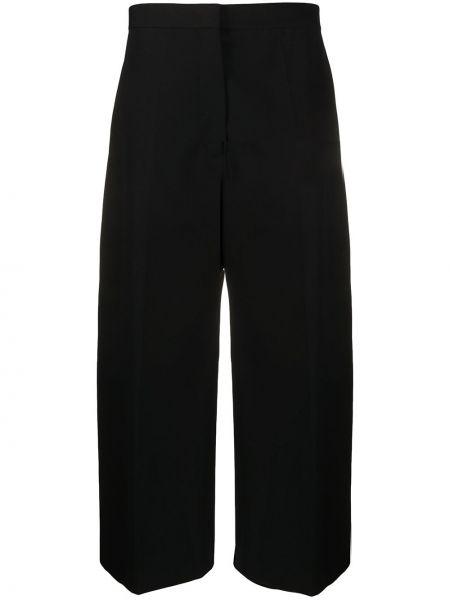 Короткие черные деловые брюки Jil Sander