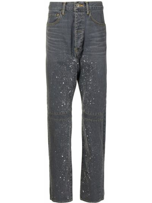 Klasyczne mom jeans z paskiem bawełniane Facetasm