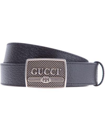 Ремень с тиснением с пряжкой Gucci