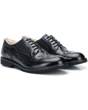 Buty brogsy skórzany czarny Andrea Montelpare