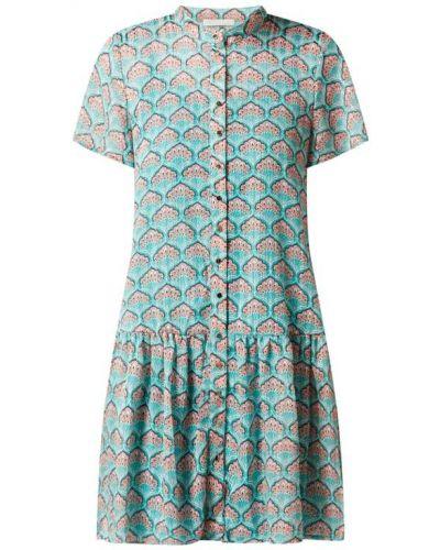 Sukienka mini rozkloszowana z szyfonu krótki rękaw Freebird